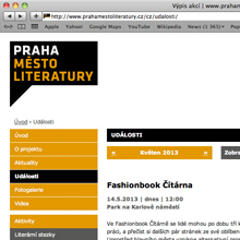 web Praha město literatury
