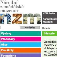 web Národní zemědělské muzeum